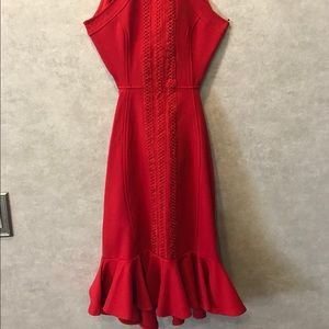 Fitted red dress by Hello Molly